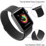 Bande magnétique de maille de boucle milanaise pour le bracelet de montre d'Apple 38mm et 42mm