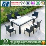 O comensal do jardim do pátio ajusta cadeiras da tabela 8 do quadrado do vidro Tempered para ao ar livre (TG-JW073)