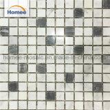 Decorativos cuadrado blanco italiano carrera mezclar mosaico de mármol gris nublado