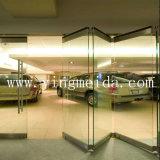 Безрамные стеклянные двери установка стекла из нержавеющей стали двухтактным выходным сигналом складная дверца масленки (F8300)