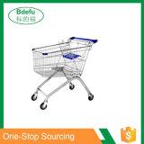 Carrello europeo di acquisto del metallo di stile del supermercato all'ingrosso con le rotelle