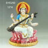 Statue resiniche all'ingrosso Saraswati del dio dell'India