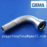 OEM CNCは油圧付属品の機械装置のステンレス鋼のひだを付けられたナットの鉄の管付属品のための付属品に溝を作った