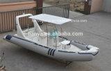Liya 6.2mのガラス繊維の堅い外皮の膨脹可能なボートの肋骨の漁船