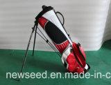 Sacchetto minore con la strumentazione di golf dei bambini della cremagliera