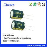 Lage Impedantie van de Condensator 330UF van de goede Kwaliteit de Elektrolytische 16V