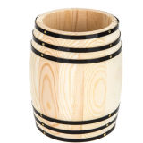 Caja de madera inacabadas con esquinas metálicas porta lápiz creativo