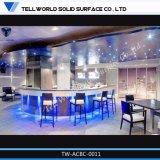 Kundenspezifischer LED-Beleuchtung L-Form fester Oberflächenstab-Kostenzähler