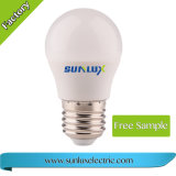 アルミニウム良質およびプラスチック3W 4W 5W 6W 220V-240Vは白色光LEDの電球を暖める