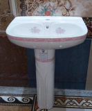 De Sanitaire Waren van de Fabriek van Chaozhou Twee van de Ceramische Stukken Gootsteen van de Was met Decoratie