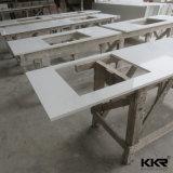 Bancada preta de pedra artificial da cozinha de quartzo do preço de fábrica de Kkr