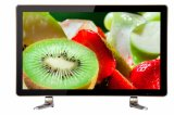 24 26 32 schermi astuti ultra sottili TV dell'affissione a cristalli liquidi LED di colore di pollice HD