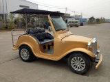 4 Sitzcer-anerkannte elektrische Weinlese-Karren-Golf-Karren-klassische besichtigenfahrzeuge