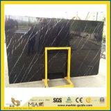 フロアーリングのためのNero自然で黒いMarquinaの大理石の大きい磨かれた平板かタイルまたは階段または舗装するか、または壁またはカウンタートップまたは虚栄心または台所または浴室または流しまたは洗浄または洗面器