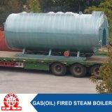 Chaudière horizontale de pétrole/gaz de passage de la vapeur trois de sortie