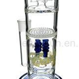 Veelvoudige Perc maakt de Rokende Waterpijp van het Glas voor Levering voor doorverkoop (S-GB-249) dik