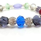 Geschenk-Böhmen-Perlen-Raupe-Form-bunte Schmucksache-elastisches Kristallarmband