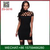 Negro Precio bajo la moda mujer vaciar sexy vestidos de Club