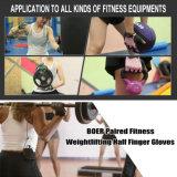 Gants en cuir de Weightlifting respirable coloré en nylon de sport de femmes