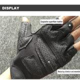 Frauen-bunter Breathable Sportnylonweightlifting-lederne Handschuhe