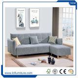 Wohnzimmer-grosses Größe PU-geschnittenleder gebogenes Sofa-Bett