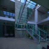 Las escaleras modernas diseñan la escalera de la barandilla/del pasamano del vidrio Tempered