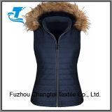 Women's matelassé veste à capuche veste polaire rembourré