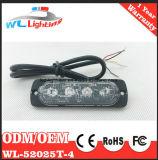 Ultra luzes de superfície vermelhas da grade da montagem da emergência 4W Lighthead