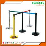 ステンレス鋼の群集の調節可能なベルトが付いている並べる障壁のポスト