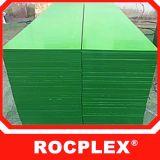 La película verde plástica de los PP hizo frente a la madera contrachapada 18m m 2440X1220