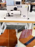頑丈で厚い糸のモカシンのOrnamentalのステッチのミシン