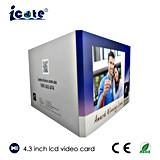 Карточка брошюры /Video видео- карточки LCD 4.3 дюймов для подарка дела выдвиженческого