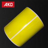 前刷りされた黄色い光沢のある単一の側面はアートペーパーの自己接着ステッカーのラベルに塗った