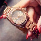 Dame Watch, de Horloges van Vrouwen, Polshorloge gelijkstroom-385