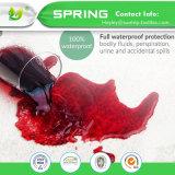Protecteur antibactérien imperméable à l'eau de matelas de Terry de coton grand hypoallergénique