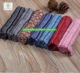100% Viskose-Streifen-gedruckte Schal-Form-Blumendame Moslem Scarf