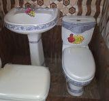 Salle de bains avec toilettes et lavabo marché Golden de décoration pour le Yémen