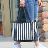 Listras verticais Galpão de Mulheres Saco a tiracolo Bolsas Sacola grande de bolsas