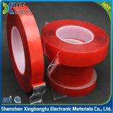 Bande dégrossie acrylique transparente de Vhb de film rouge double