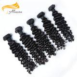 Extensions brésiliennes humaines de cheveu du noir 100 de prix de gros