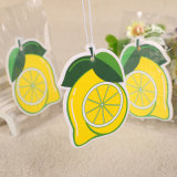 Aroma de limón de la tarjeta de papel de la sala Custom ambientador en forma de Limón (YH-AF360)