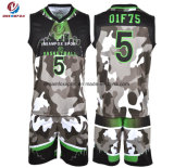OEM自由なデザイン乾燥した適合によって昇華させるバスケットボールのユニフォーム
