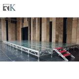 Adjustiableの足パフォーマンス装置が付いているRkの携帯用アルミニウム段階