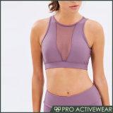 L'usura calda di forma fisica di vendita ha personalizzato il reggiseno di sport del reticolo stampato donne