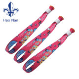 Textil de tela personalizadas pulseras Pulsera tejida Festival