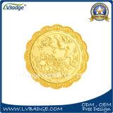 荷箱が付いている習慣によって浮彫りにされるロゴの記念品の硬貨