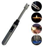Flammenloses elektrisches USB-nachladbares langes Lichtbogen-Feuerzeug für Küche-Kerze mit flexiblem Stutzen