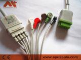 GE contra grupo de los alambres de terminal de componente de ECG en los 76cm
