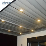 Gazebo di alluminio esterno motorizzato del Pergola del tetto della feritoia del giardino registrabile