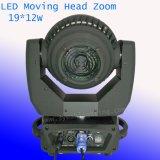 DJ de l'éclairage LED 12W 19pcs Déplacement de zoom de phare